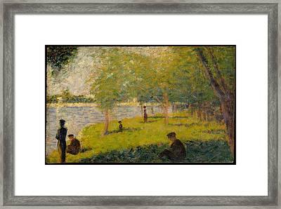 Georges Seurat    Study For A Sunday On La Grande Jatte Framed Print