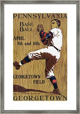 Georgetown Baseball Game Poster Framed Print by American School