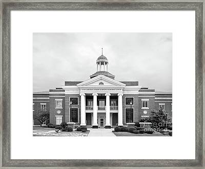 Georgetown College Ensor Learning Resource Center Framed Print by University Icons
