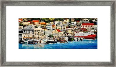 Georgetown Harbor, Grenada Framed Print