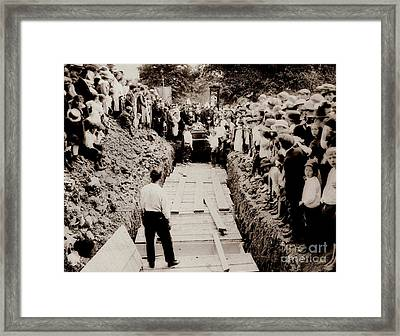 Georgetown Section Of Wilkes Barre Twp. June 5 1919 Framed Print