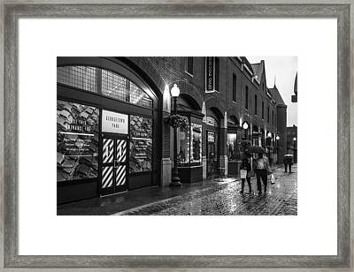 Georgetown Stroll Framed Print