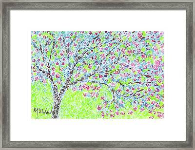 Georgetown Tx Crepe Myrtle By Kmcelwaine Framed Print