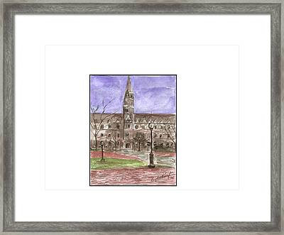 Georgetown University Healy View Framed Print by Angela Puglisi