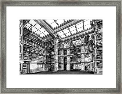 Georgetown University Riggs Library Framed Print by University Icons