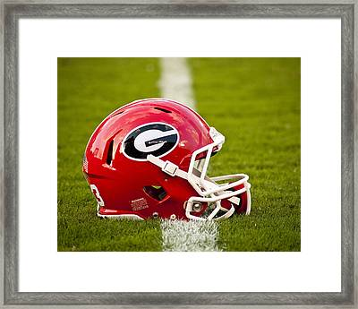 Georgia Bulldogs Football Helmet Framed Print by Replay Photos