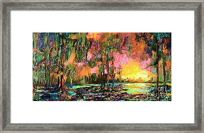 Georgia Landscape Okefenokee Sunset  Framed Print by Ginette Callaway