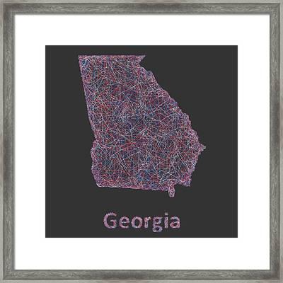 Georgia Map Framed Print