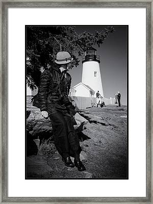 Georgia O. At Pemaquid Framed Print