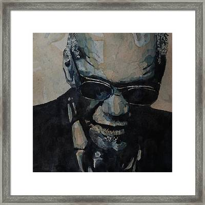 Framed Print featuring the painting Georgia On My Mind - Ray Charles  by Paul Lovering