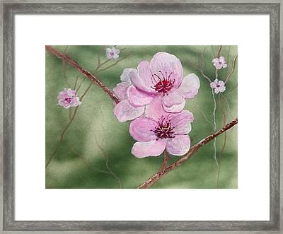 Georgia Peach Blossoms Framed Print