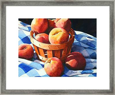 Georgia Peaches Framed Print