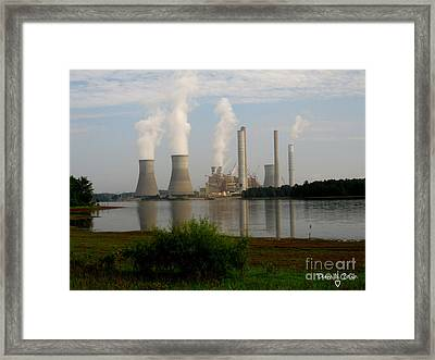 Georgia Power Plant Framed Print by Donna Brown