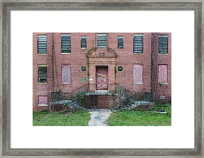 Framed Print featuring the photograph Georgia State Hospital by Kim Hojnacki