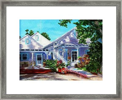 Georgia Street, Key West Framed Print