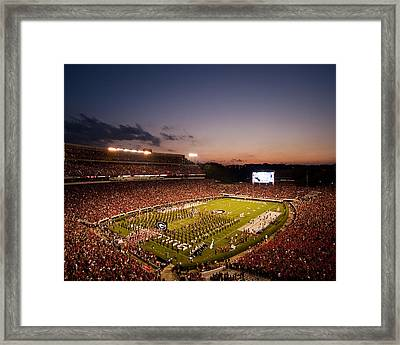 Georgia Sunset Over Sanford Stadium Framed Print by Replay Photos