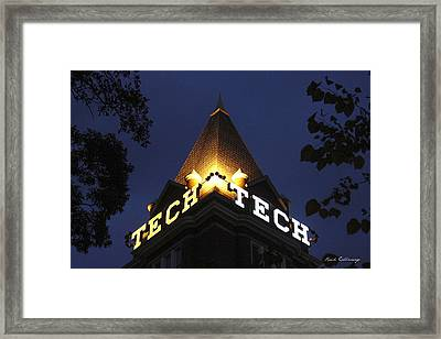 Georgia Tech Georgia Institute Of Technology Georgia Art Framed Print