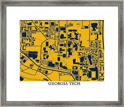 Georgia Tech Campus Framed Print by Spencer Hall