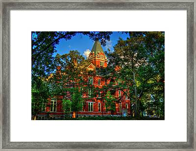 Framed Print featuring the photograph Georgia Tech Tech Tower Sunset Ga Tech Administration Building Atlanta Art by Reid Callaway