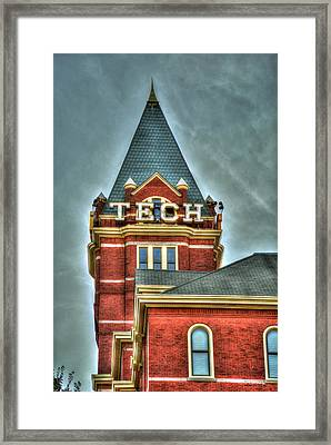 Georgia Tech Tower 8 Georgia Institute Of Technology Art Framed Print