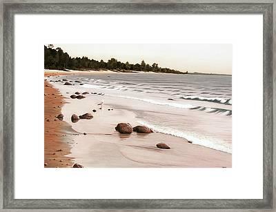 Georgian Bay Beach Framed Print