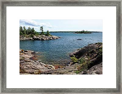 Georgian Bay Islands Framed Print