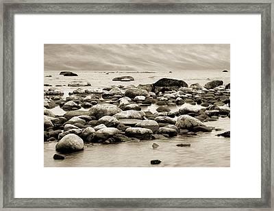 Georgian Bay Framed Print by Linda McRae