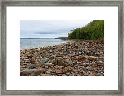 Georgian Bay Rocky Shoreline Framed Print