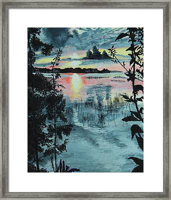 Georgian Bay Sunset Framed Print