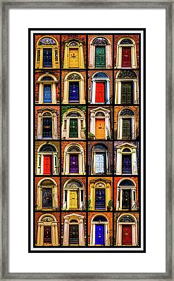 Georgian Doors Of Dublin 3 Framed Print