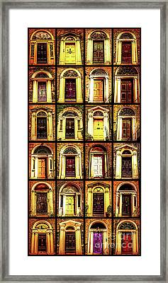 Georgian Doors Of Dublin 4 Framed Print