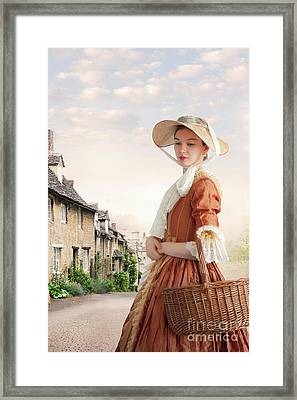 Georgian Period Woman Framed Print by Lee Avison