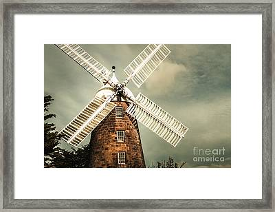 Georgian Stone Windmill  Framed Print by Jorgo Photography - Wall Art Gallery