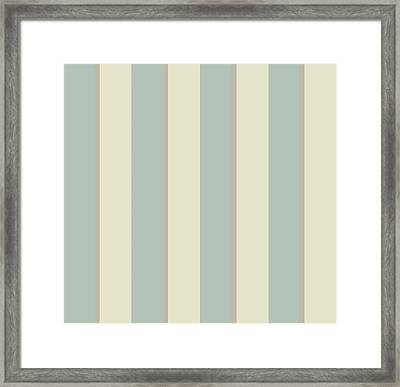 Georgian Stripe Eau De Nil Framed Print by Sarah Vernon