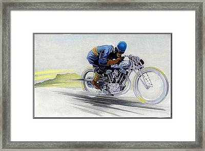 Geo's Bike Framed Print by Lyle Brown