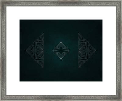 Geosymmetry 2i Framed Print by Edouard Coleman