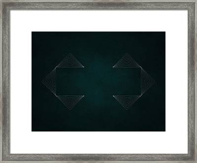 Geosymmetry 3i Framed Print by Edouard Coleman