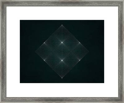 Geosymmetry 5 Framed Print by Edouard Coleman
