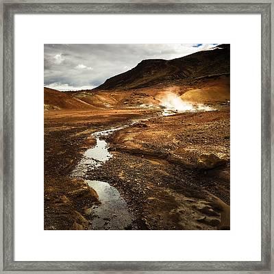 Geothermal Area Krysuvik In Iceland Framed Print