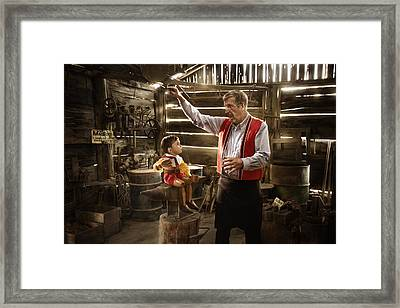 Geppetto's Workshop Framed Print by Karen Alsop