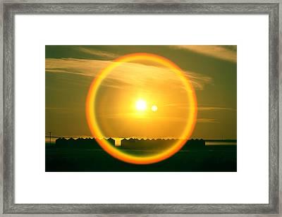 Geraldine Orange Framed Print by Todd Klassy