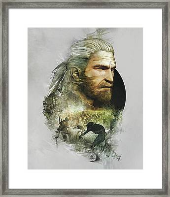 Geralt Of Rivia - The Witcher Framed Print by Lobito Caulimon