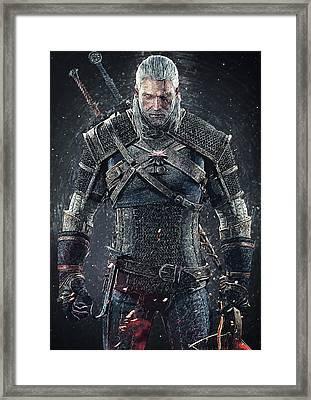 Geralt Of Rivia - Witcher  Framed Print by Taylan Apukovska