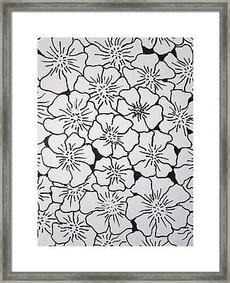 Geranium Pattern Framed Print by Rosita Larsson