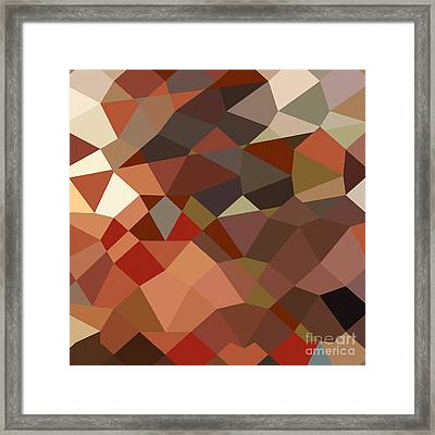 Geranium Red Abstract Low Polygon Background Framed Print