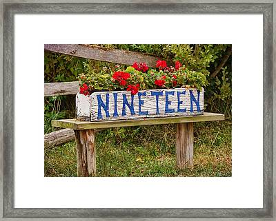 Geraniums Framed Print by JAMART Photography