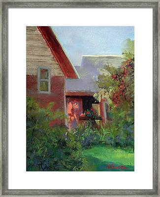 Geraniums Framed Print by Linda Preece