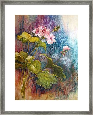 Geraniums Framed Print by Lois Mountz