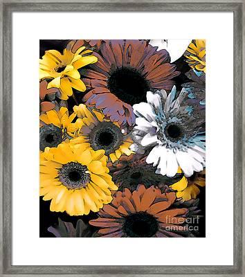 Gerbera Cluster Framed Print by Linda  Parker