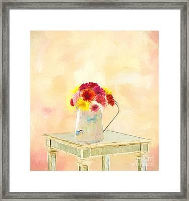 Gerbera Daisies  Framed Print by Jim  Hatch